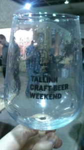 tallin craft beer weekend glass